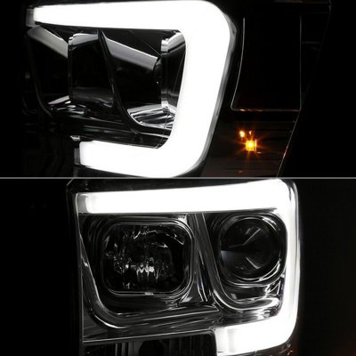 Dodge Ram 2500 2006-2009 LED Tube DRL Projector Headlights