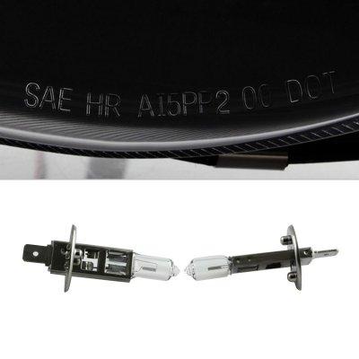 Dodge Ram 2002-2005 Black LED Tube DRL Projector Headlights