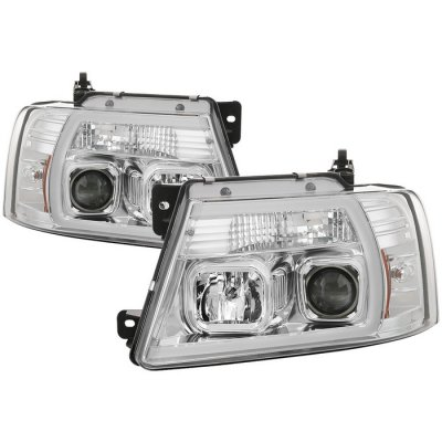 Ford F150 2004-2008 LED Tube DRL Projector Headlights