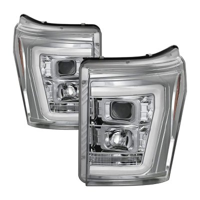 Ford F250 Super Duty 2011-2016 DRL Tube Projector Headlights