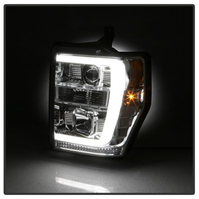 Ford F250 Super Duty 2008-2010 Tube DRL Projector Headlights