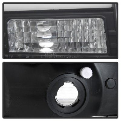 Ford Excursion 2000-2004 Black Tube DRL Projector Headlights