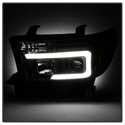 Toyota Tundra 2007-2013 Black Tube DRL Projector Headlights
