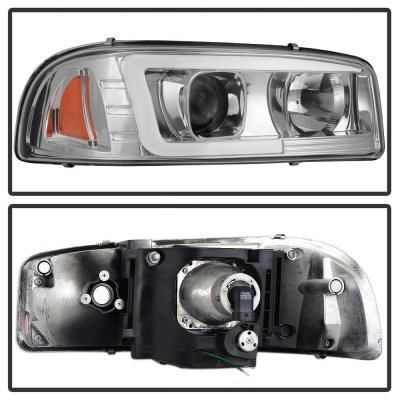 GMC Sierra 1999-2006 LED Tube DRL Projector Headlights