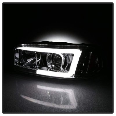 GMC Yukon 2000-2006 LED Tube DRL Projector Headlights