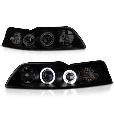 Ford Mustang 1999-2004 Black Smoked Projector Headlights
