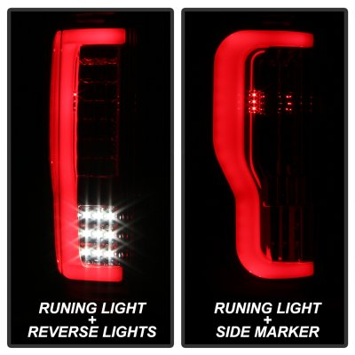 Ford F250 Super Duty 2017-2018 Tube LED Tail Lights