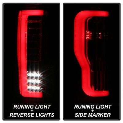 Ford F350 Super Duty 2017-2018 Tube LED Tail Lights