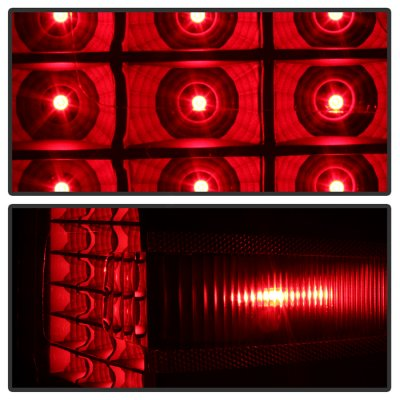 Chevy Silverado 2500HD 2015-2019 Black Smoked LED Tail Lights