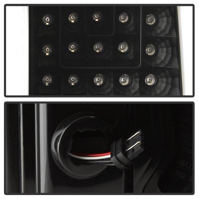 Chevy Silverado 2500HD 2015-2018 Black Tube Full LED Tail Lights