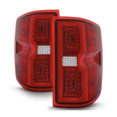 Chevy Silverado 2014-2018 Tube Full LED Tail Lights