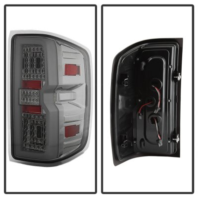 Chevy Silverado 2014-2018 Smoked Tube Full LED Tail Lights
