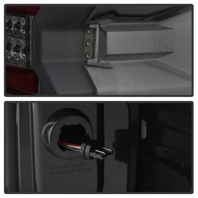 Chevy Silverado 2500HD 2015-2018 Smoked Tube Full LED Tail Lights