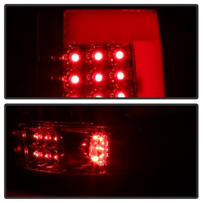 Ford F150 2004-2008 Clear Tube LED Tail Lights