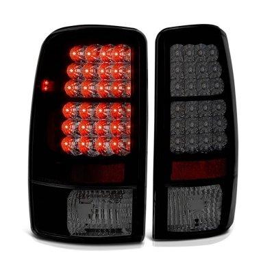 GMC Yukon 2000-2006 Black Smoked LED Tail Lights