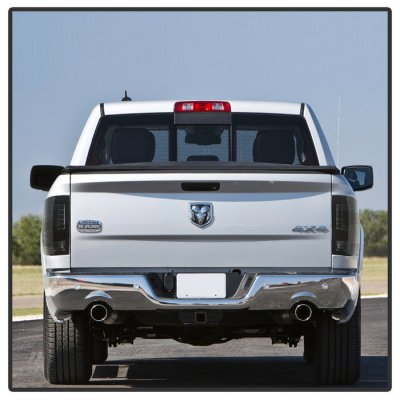 Dodge Ram 2013-2018 Black Smoked LED Tail Lights P-Series
