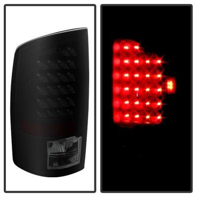 Dodge Ram 2002-2006 Black Smoked LED Tail Lights