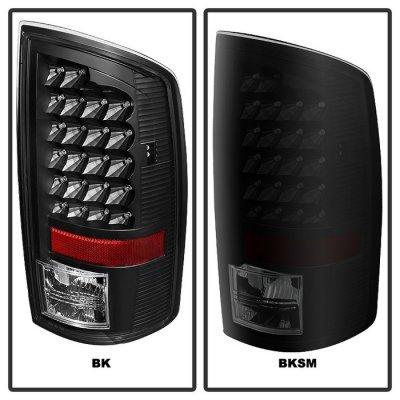 Dodge Ram 2500 2003-2006 Black Smoked LED Tail Lights