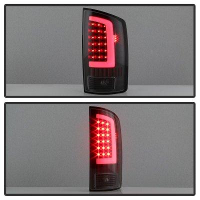 Dodge Ram 2002-2006 Black LED Tail Lights Neon Tube