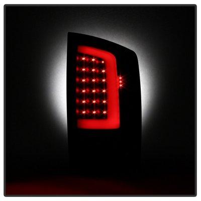 Dodge Ram 2002-2006 Black Smoked LED Tail Lights Tube