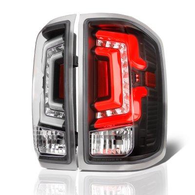 Chevy Silverado 2500HD 2015-2018 Black Custom LED Tail Lights