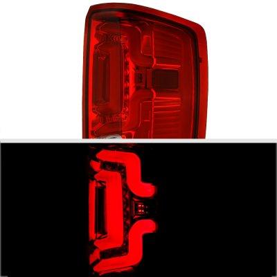 Chevy Silverado 2500HD 2015-2018 Custom LED Tail Lights