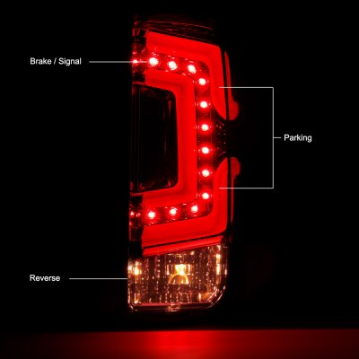 Chevy Silverado 2014-2018 Smoked Custom LED Tail Lights