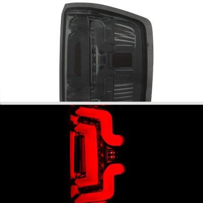 Chevy Silverado 2500HD 2015-2018 Smoked Custom LED Tail Lights