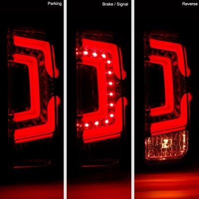 Chevy Silverado 2014-2018 Tinted Custom LED Tail Lights