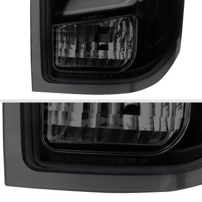 Chevy Silverado 2014-2018 Black Smoked Custom LED Tail Lights