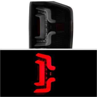 Chevy Silverado 2500HD 2015-2018 Black Smoked Custom LED Tail Lights