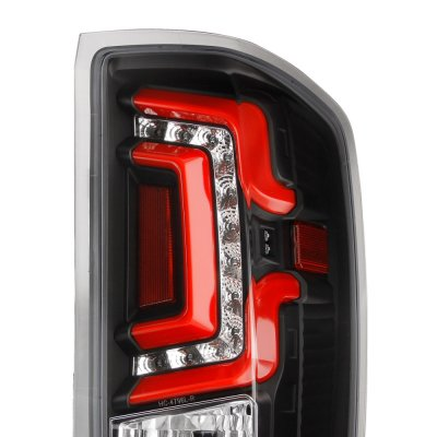 Chevy Silverado 2500HD 2015-2018 Black Custom LED Tail Lights Red Tube