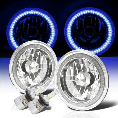 Jeep Wrangler 1997-2006 Blue SMD Halo LED Headlights Kit