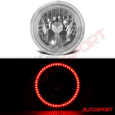 Mazda Miata 1990-1997 Red SMD Halo LED Headlights Kit