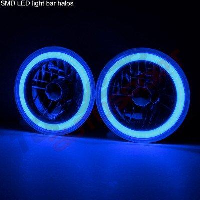 Chevy C10 Pickup 1967-1979 Blue Halo Tube LED Headlights Kit