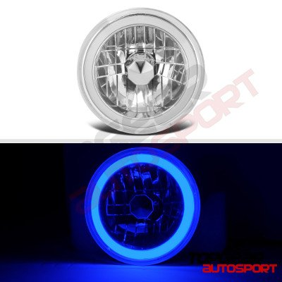 Jeep Wrangler 1997-2006 Blue Halo Tube LED Headlights Kit
