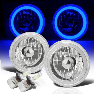 VW Bus 1968-1979 Blue Halo Tube LED Headlights Kit