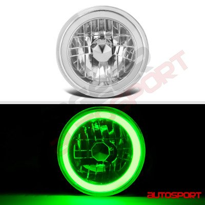 Dodge Pickup Truck 1969-1979 Green Halo Tube LED Headlights Kit