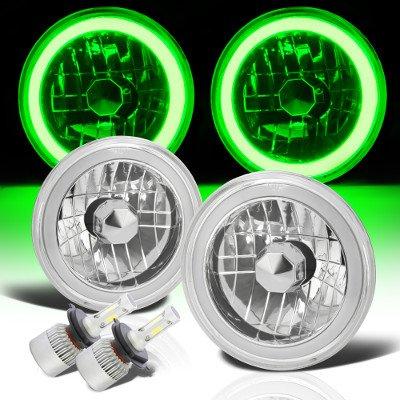 Ford F100 1969-1979 Green Halo Tube LED Headlights Kit