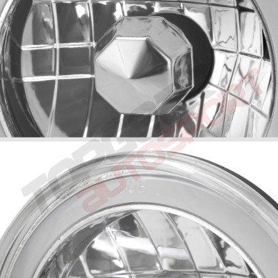 Jeep Wrangler 1997-2006 Red Halo Tube LED Headlights Kit