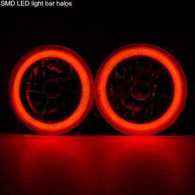 Porsche 912 1974-1976 Red Halo Tube LED Headlights Kit