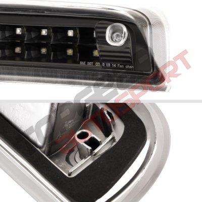Chevy Silverado 2500HD 2015-2019 Black Full LED Third Brake Light Cargo Light