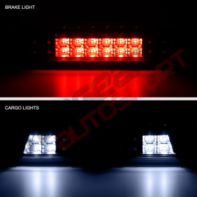 Chevy Silverado 2500HD 2015-2017 Black Smoked Full LED Third Brake Light Cargo Light