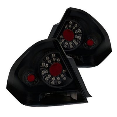 Chevy Impala 2006-2013 Black Smoked LED Tail Lights
