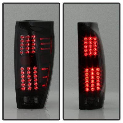 Chevy Avalanche 2002-2006 Black Smoked LED Tail Lights