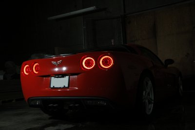 Chevy Corvette C6 2005-2013 Halo LED Tail Lights Sequential Signals
