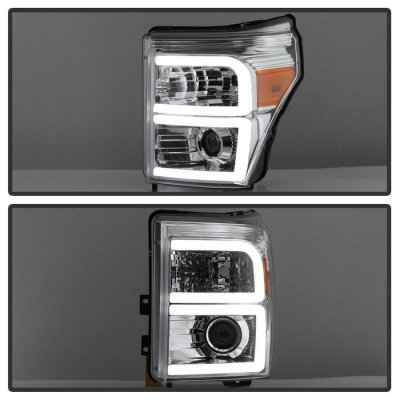 Ford F250 Super Duty 2011-2016 LED Tube DRL Projector Headlights
