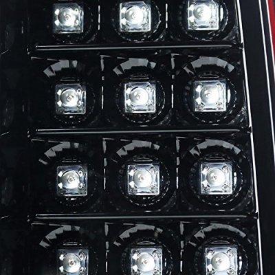 GMC Sierra 3500HD 2015-2018 Glossy Black LED Tail Lights