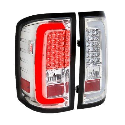 GMC Sierra 2500HD 2015-2018 Clear LED Tail Lights