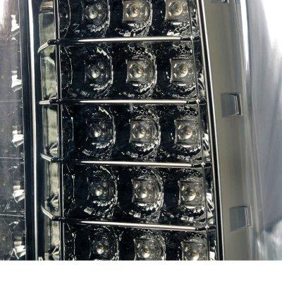 GMC Sierra 2500HD 2015-2018 Smoked LED Tail Lights
